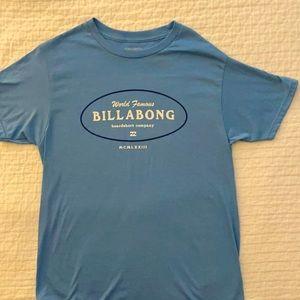 Billabong TShirt Short Sleeve Blue M Graphics NWOT